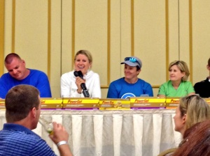 Lauren Goss on the pro panel.